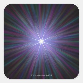 Big Bang, conceptual computer artwork. 2 Square Sticker
