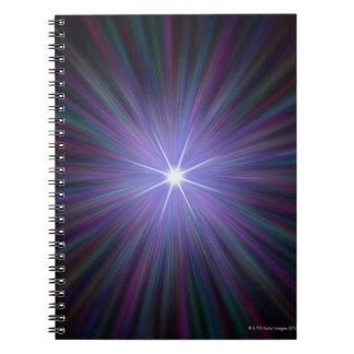 Big Bang, conceptual computer artwork. Spiral Notebook