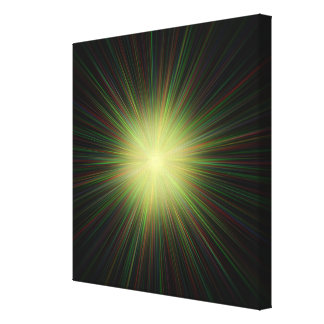 Big Bang, conceptual computer artwork. Stretched Canvas Print
