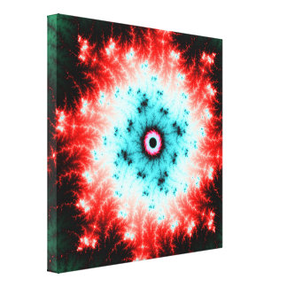 Big Bang - red and blue fractal explosion Canvas Prints