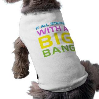 Big Bang Science Humor Sleeveless Dog Shirt