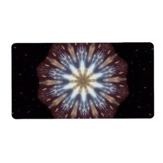 Big Bang Theory Kaleidoscope Shipping Label