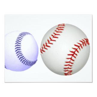 Big Baseball Smaller Blue Ball Card