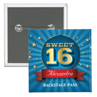 Big Bash Sweet 16 Party Button