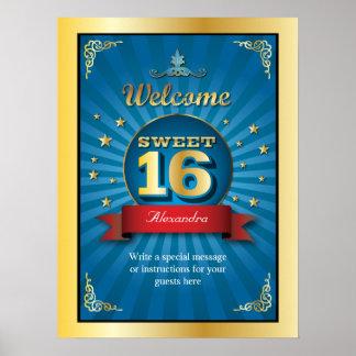 Big Bash Sweet 16 Welcome Poster