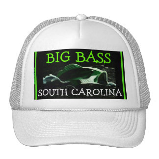 """Big Bass"" South Carolina Mesh Ballcap Cap"