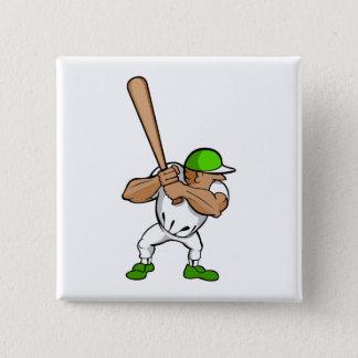 Big bat little player 15 cm square badge