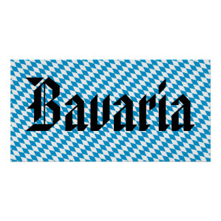 Big Bavaria Flag Poster