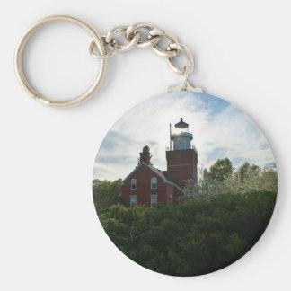 Big Bay Lighthouse Basic Round Button Key Ring