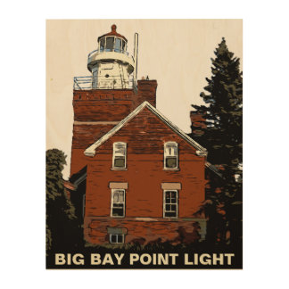 BIG BAY POINT WOOD PRINT