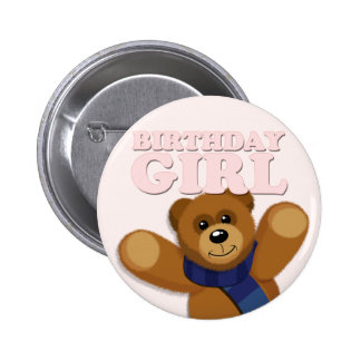 Big Bear Birthday Girl Badge