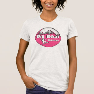 Big Bear California pink ladies snowboard tee