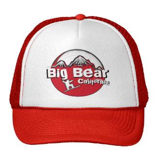Big Bear California red black white snowboard hat