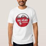 Big Bear California red snowboard guys tee