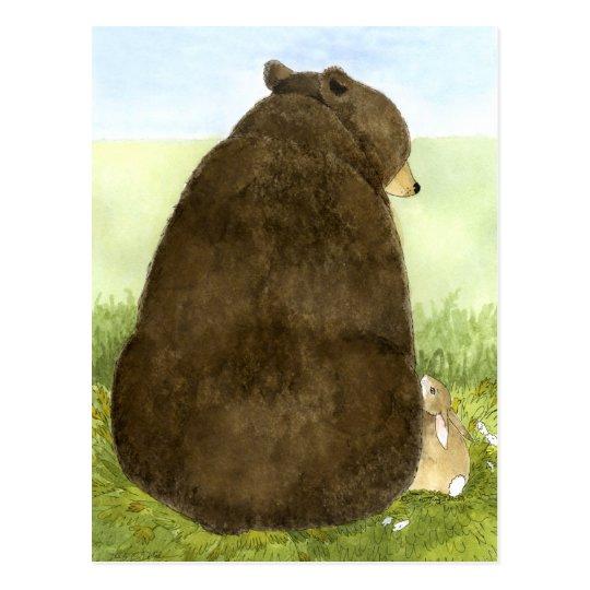 Big Bear & Little Bunny Postcard