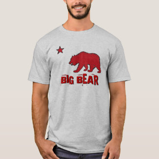 Big Bear Mountain California guys red gray tee