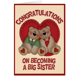 Big Bear Sister Greeting Card