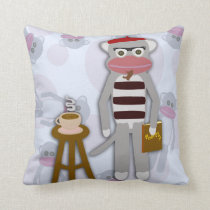 Big Beatnik Sock Monkey Cushion