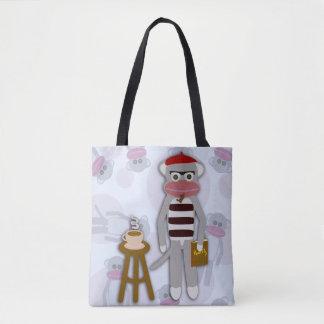 Big Beatnik Sockmonkey Tote Bag