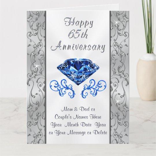 Big Beautiful 65th Wedding Anniversary Cards | Zazzle.co.uk
