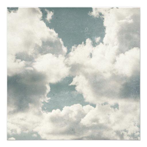 Big Beautiful Clouds Personalized Invite
