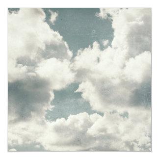 """Big Beautiful Clouds 5.25"""" Square Invitation Card"""