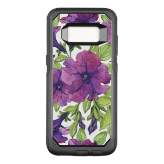 Big beautiful purple Flowers Pattern OtterBox Commuter Samsung Galaxy S8 Case
