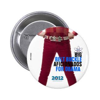 Big Belt Buckle Aficionados for Obama 6 Cm Round Badge