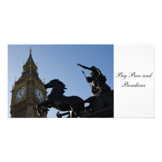 Big Ben and Boadicea Statue Personalised Photo Card