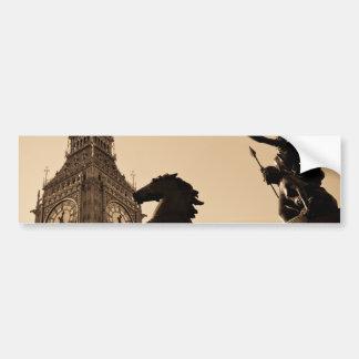Big Ben and Boudica statue Bumper Sticker