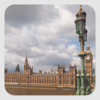 Big Ben and Houses of Parliament in London Square Sticker