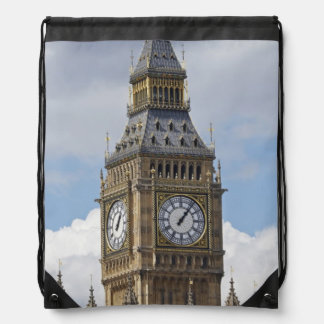 Big Ben and Houses of Parliament, London, Drawstring Bag