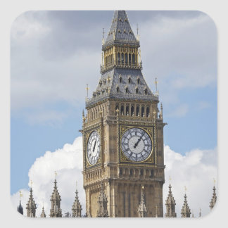 Big Ben and Houses of Parliament, London, Square Sticker