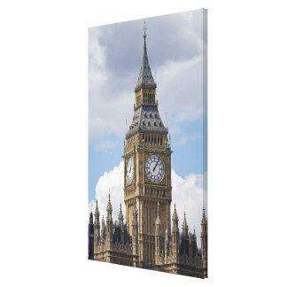 Big Ben and Houses of Parliament, London, Stretched Canvas Print