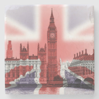Big Ben and Houses of Parliament, Union Jack Stone Coaster