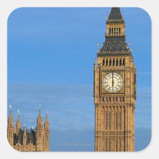 Big Ben and Parliament Building Square Sticker