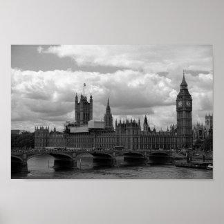 Big Ben and Parliament (London) Poster