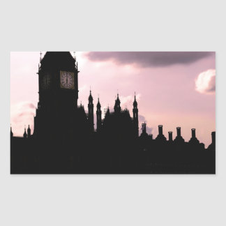 Big Ben and Parliament Rectangle Stickers