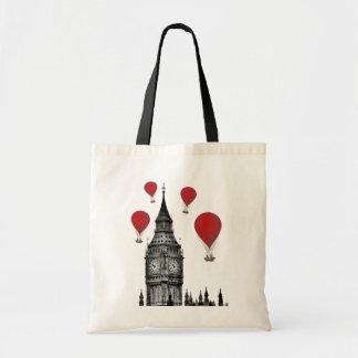 Big Ben and Red Hot Air Balloons 2