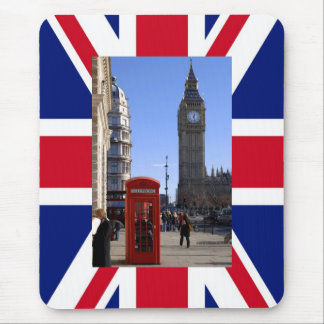 Big Ben and Red Telephone box in London Mouse Pads