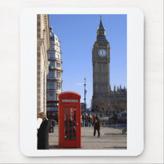 Big Ben and Red Telephone box in London Mousepads