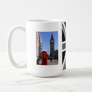 Big Ben and Red Telephone box in London Classic White Coffee Mug