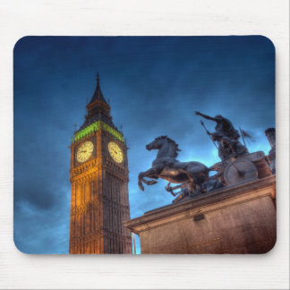 Big Ben and Statue (London) Mouse Pad