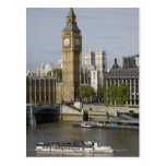 Big Ben and Thames River Postcard