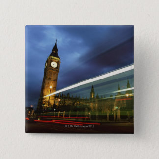 Big Ben and the Houses of Parliament 15 Cm Square Badge
