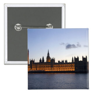 Big Ben and the Houses of Parliament in the city 15 Cm Square Badge