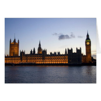 Big Ben and the Houses of Parliament in the city Card