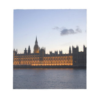 Big Ben and the Houses of Parliament in the city Notepad