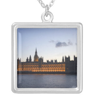 Big Ben and the Houses of Parliament in the city Silver Plated Necklace