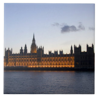 Big Ben and the Houses of Parliament in the city Tile